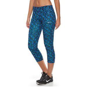NWOT Nike Dri Fit Patterned Capri Leggings